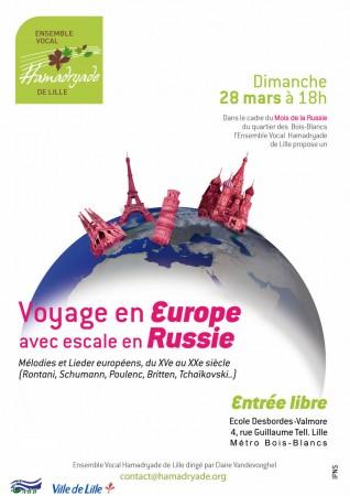Voyage en Europe avec escale en Russie